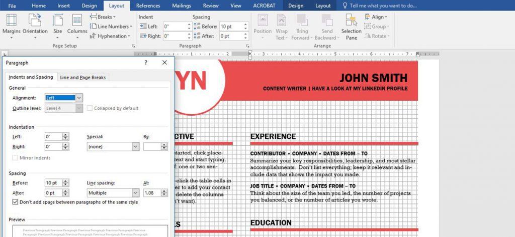 Screenshot aus Word: Für jeden zugängliches DTP-Programm