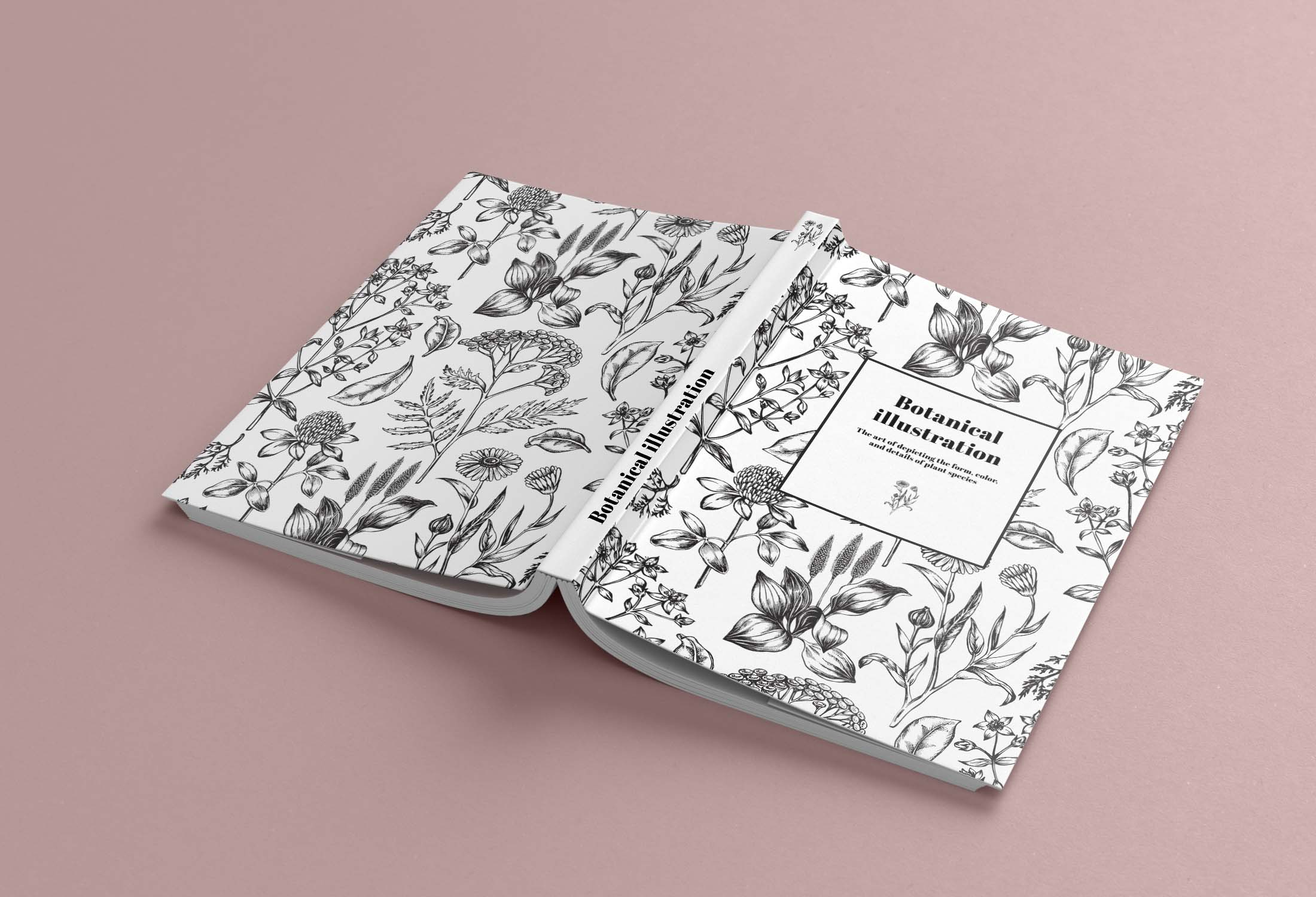 Aufgeklapptes Buch mit Fadenheftung und Softcover
