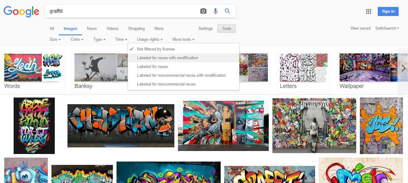 Maske für die Google Suche nach kostenlosen Fotos